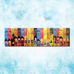 Dragon Ball Z - Affiche en toile sur toile de Goku au Japon avec Anime Art 20x71 24x85 pouces Image pour la décoration de la pièce (suite) -13 Y18102209