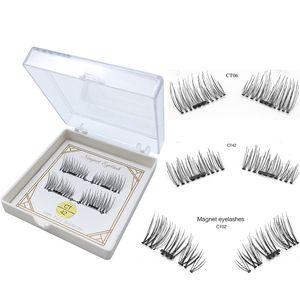Magnetic Eyelashes 3D Eye Lashes 4pcs Handmade Eyelash Extension Eyes Beauty Makeup Natural No glue Magnet False Eyelashes Fake lashes
