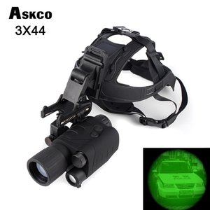 Full Dark Professional Gen1 3X44 Visão noturna Infravermelha monocular IR Óculos Monocular Night vision Scope Com Capacete Venda Quente