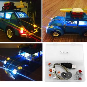 طقم إضاءة LED لطراز 10252 Beetle و LEPIN 21003 (لم يتم تضمين طوب السيارات) تتضمن مجموعة إضاءة فقط