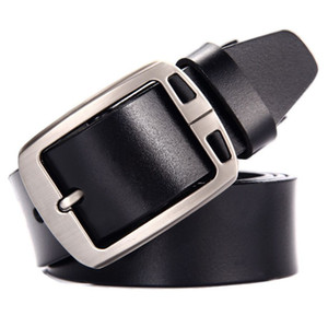 3.8CM 100% Cowhide Genuine Leather Belts for Men  Strap Male Pin Buckle Fancy Vintage Cowboy Jeans Cintos Free Shipping