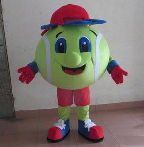 2018 hochwertige handgemachte bunte maskottchen tennis ball tennis ball erwachsene maskottchen kostüm