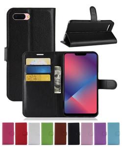 새로운 패션 가죽 슬롯 지갑 플립 커버 케이스 OPPO A5 / A3S / AX5 / Realme 2 / R15 NEO