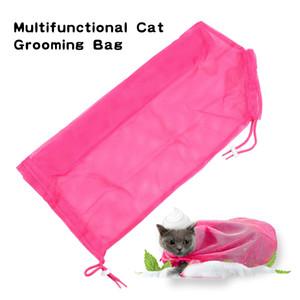 Multifunktionale Katze Waschen Dusche Mesh Taschen Hundesalon Taschen Für Trimmen Baden Reinigung Rose Rot Blau Farbe