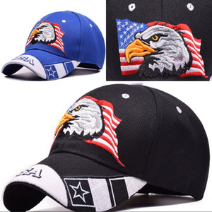 2Colors Cotton Soft Fashion Eagle Logo Snapback Hats For Unisex Summer Sun Hat Great Souvenir Caps For USA
