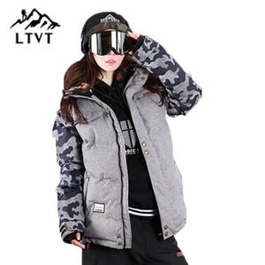 LTVT  Ski Jacket Women Snowboarding jackets Warm Snow Coat Breathable Camouflage Waterproof Skiing Jackets Female
