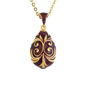 Paskalya Bonus Çıkan Emaye El Yapımı Takı Faberge Yumurta Kolye Charm Kristal Rhinestone Kolye gerdanlık boho Hediye Kadınlar