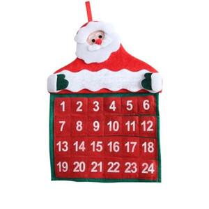 Décorations De Noël Père Noël Calendrier Calendrier De Noël Calendrier Maison Pendentif Calendrier De Noël Pendentif pour La Maison 30 * 40 cm