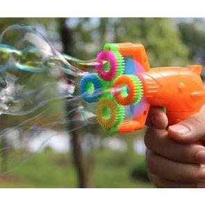 2 stücke 12 * 9 cm Elektrische Seifenblasenpistole # 5 batterieleistung Automatische Blase Wasser blasmaschine kinder urlaub wasserpistole spielzeug d10