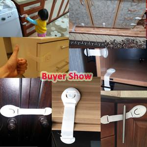 10pcs / lot Cajones de la puerta del gabinete Cerraduras del refrigerador Protección de los niños Niño Bebé Seguridad Plástico Cerraduras de seguridad Cierres Productos