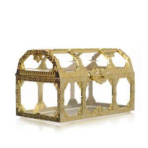 Tesoro de la joyería Pecho Cajas Claro Mini caramelo de la caja plástica del regalo del banquete de boda del envase del organizador del almacenaje 2 Superficie 2 15rt3 Zz