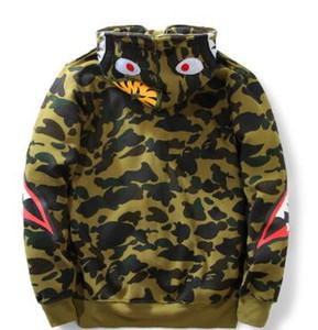 2016 otoño tiburón manga béisbol con capucha sudadera con capucha ture marca escudo sudaderas top ropa de diseño para hombre pequeño más el tamaño negro rojo