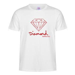 Respirável Mens t-shirt a impressão de padrões de diamante Masculino T Shirt Mens Verão T-shirt Harajuku Casual Hip Hop Cotton Tees 20 cores S-3XL