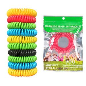 Bonbons Couleur Moustique Repllent Main Bracelet Chaîne En Plein Air Fanshion Anti-Moustique Bracelet Outil Pour Camping Randonnée À L'extérieur En Gros