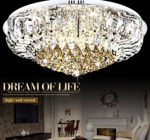 Modern LED Lüks K9 Kristal Büyük Tavan Lambası E14 Aydınlatma ile Minimalist Dairesel Oturma Odası Salon Avizeler LED Ampuller LLFA