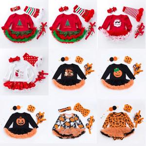 신생아 Christmas Hallween 호박 옷 아기 소녀 의류 세트 Ruffle Tutu Dress New Born Baby Clothing