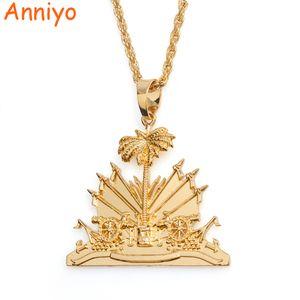 Ciondolo e collana Anniyo Haiti per donne / ragazze, articoli Ayiti, argento / oro, colore, gioielli, regali di Haiti # 068506