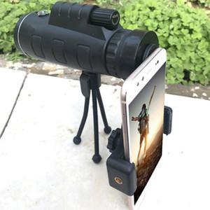40X60 الهاتف المحمول مناظير HD عالية التكبير أحادي تلسكوب مزدوج لهجة في الهواء الطلق المتاحة مع البوصلة الداخل