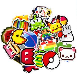 25pcs / lot dos desenhos animados Super Mario Pixel Estilo Etiqueta Para Car Laptop bagagem Skate Backpack Tabelas Caso Decal Crianças Toy Sticker