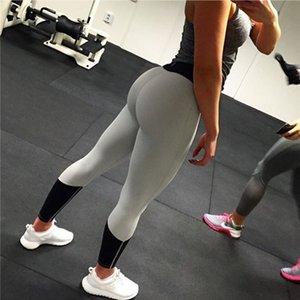 Женщины Спорт Йога Леггинсы Упругие Tight Фитнес Активные Женские брюки Женская одежда Розовый Черный насыщенный цвет брюки FS5759