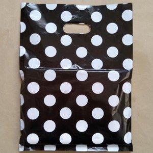100 unids 25x35 cm Ropa Bolsas de plástico Círculo Dot Bolsas de la compra bolsa de embalaje Comestic y bebida SACAR bolsa de embalaje