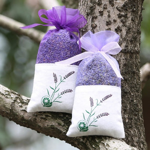 Car pendant package Purple Cotton Organza Lavender Sachets DIY Dried Flower Sweet Bursa Wardrobe Mouldproof Fume Gift Bag