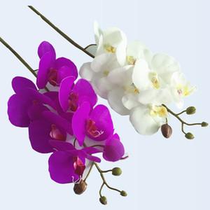 Nouveau Design Artificielle Fleur D'orchidée 4 couleurs Real Touch Artificielle Papillon Orchidée Flores artificielle décoration de mariage accueil festival Festival