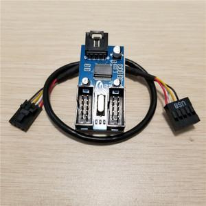 PC Case внутренний 9PIN USB 1 до 2 сплиттер чипсет расширенной версии расширителя