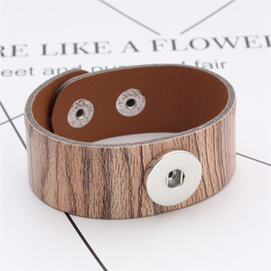 Noosa PU Leather Snap Bracelet Bangles 18mm Snap Button Charms Bracelet Jewelry For Women Ginger Snaps Jewelry