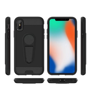 For Iphone XS XS max Iphone XR Wholesale Cheap Hybrid Magnetic Car Mount Kickstand Cell Phone Case Stand Cover 100pcs at least