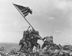 Japonya'da ücretsiz Nakliye ABD Ordusu Iwo Jima Bayrak Yükselterek savaş Yüksek Kaliteli Sanat Posterler Baskı Duvar Kağıdı Fotoğraf kağıdı 16 24 36 47 inç