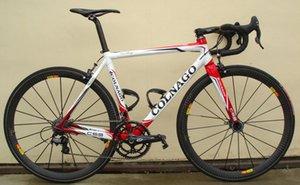 Kırmızı Colnago C59 Karbon Komple Yol Bisikleti Mağazası Komple Bisiklet Bisiklet Ultegra Groupset 12 k karbon tekerlek