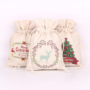 New Slbtx Claus Sack Gifts Christmas Bags Gift Hot Santa Decorations Snowman Xmas Candy Drawstring Canvas Vxroe