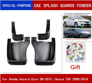 4Pcs Set Car Mudflaps Splash Guards Mud Flap Mudguards Fender For Honda Accord Euro 2008-2012 For Acura TSX 2009-2014