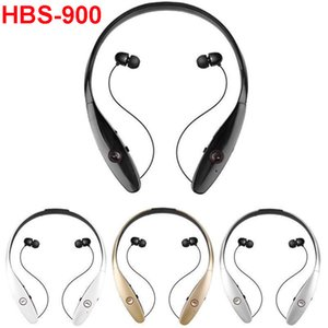 HBS-900 Wireless Sport Neckband Auriculares intrauditivos Auriculares estéreo Bluetooth Auriculares HBS900 vs HBQ I7S TWS para LG iPhone 6 7 8 X Samsung