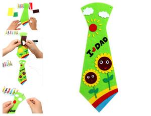 Novo Criativo DIY Gravata No Pescoço Pai Pai Presentes de Aniversário Garoto Estudante Handmade Gravata Partido Dos Desenhos Animados Gravata Crianças Personalidade Gravata