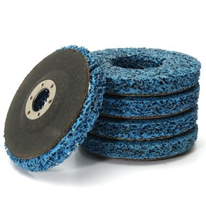 110mm 폴리 스트립 휠 연마 도구 페인트 녹 제거 깨끗한 앵글 그라인더 디스크 블루 5pcs / lot