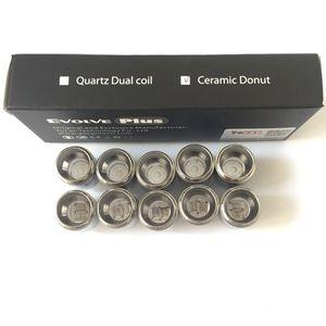 Auténtica Evolve Plus QDC cuarzo de doble bobina para Yocan Evolve Plus Kit Evolve D Cerum atomizador NYX vaporizador antorcha Kit Yocan