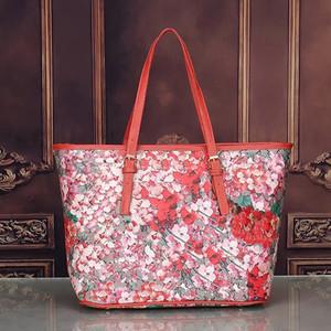 Flor Flores mulheres sacola Geranium impressão shopper saco designer de bolsas de couro pu feminino sacos de laptop de negócios