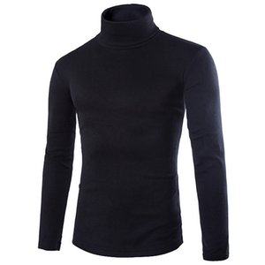 2018 neue Herbst Herren Strick Shirt Slim Fit Rollkragen Knited T Shirts Slim Fit Tops Strickjacke Kleidung Asien Größe S M L Xl