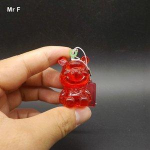 3D 크리스탈 퍼즐 베어 모델 DIY 웃긴 게임 플라스틱 모델 두뇌 티저 장난감 선물 붉은 색