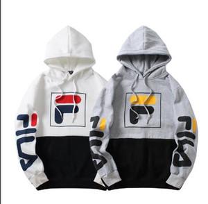 Europa dos homens e dos Estados Unidos maré marca impressão criativa casal com capuz camisola juventude jaqueta solta dos homens casuais