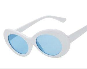 Schutzbrille NIRVANA Kurt Cobain Brille Klassische Vintage Retro Weiß Schwarz Oval Sonnenbrille Alien Shades 90er Jahre Sonnenbrille Punk Rock Glasses