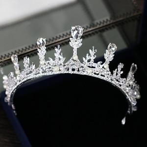 Corona nuziale elegante cristallo temperamento corona di diamanti 2018 nuova corona nuziale coreano corona di cristallo