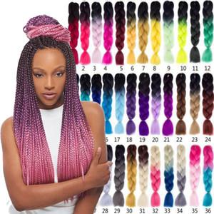 X-pression плетение волос синтетические Ombre волос Kanekalon плетение высокая температура волокна крючком твист косы Ombre Box косы