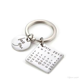 Calendario personalizado llavero, calendario de la firma llavero Calendario estampado a mano, fecha resaltada con el corazón Padres Día de la madre Venta