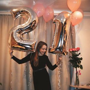 40 inç unicorn parti Balonlar Hava Balon topu doğum günü partisi süslemeleri çocuklar Şekil globos ballon mutlu doğum günü ballon balony