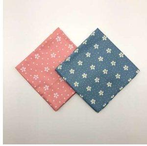 Moda donna blu e rosso sakura fasce floreali bandane Fazzoletti sciarpa Furoshiki Tovaglietta Tanti usi Dimensioni 48cm (+ - 1cm)