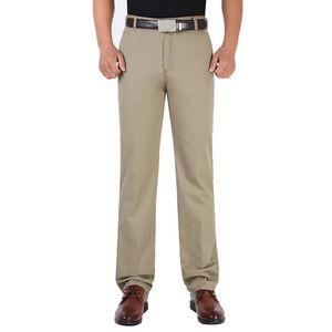 SHUJIN 2018 Moda Erkekler Düz Pantolon Ilkbahar ve Sonbahar Uzun Erkek Klasik Iş Rahat Tam Boy Pantolon Yüksek Kalite