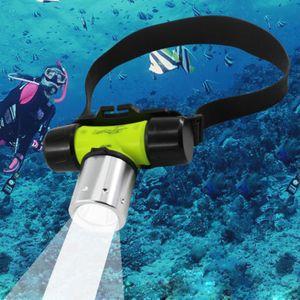 LED Impermeable Buceo Faros Faro Submarino CREE T6 20 m Buceo Natación Pesca Caza Linterna 18650 / AAA Con Caja Original